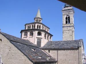 La vista dalla sala della Basilica di S. Maria Maggire