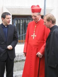 Con il Cardinale alla fine del Conclave per l'elezione di Benedetto XVI
