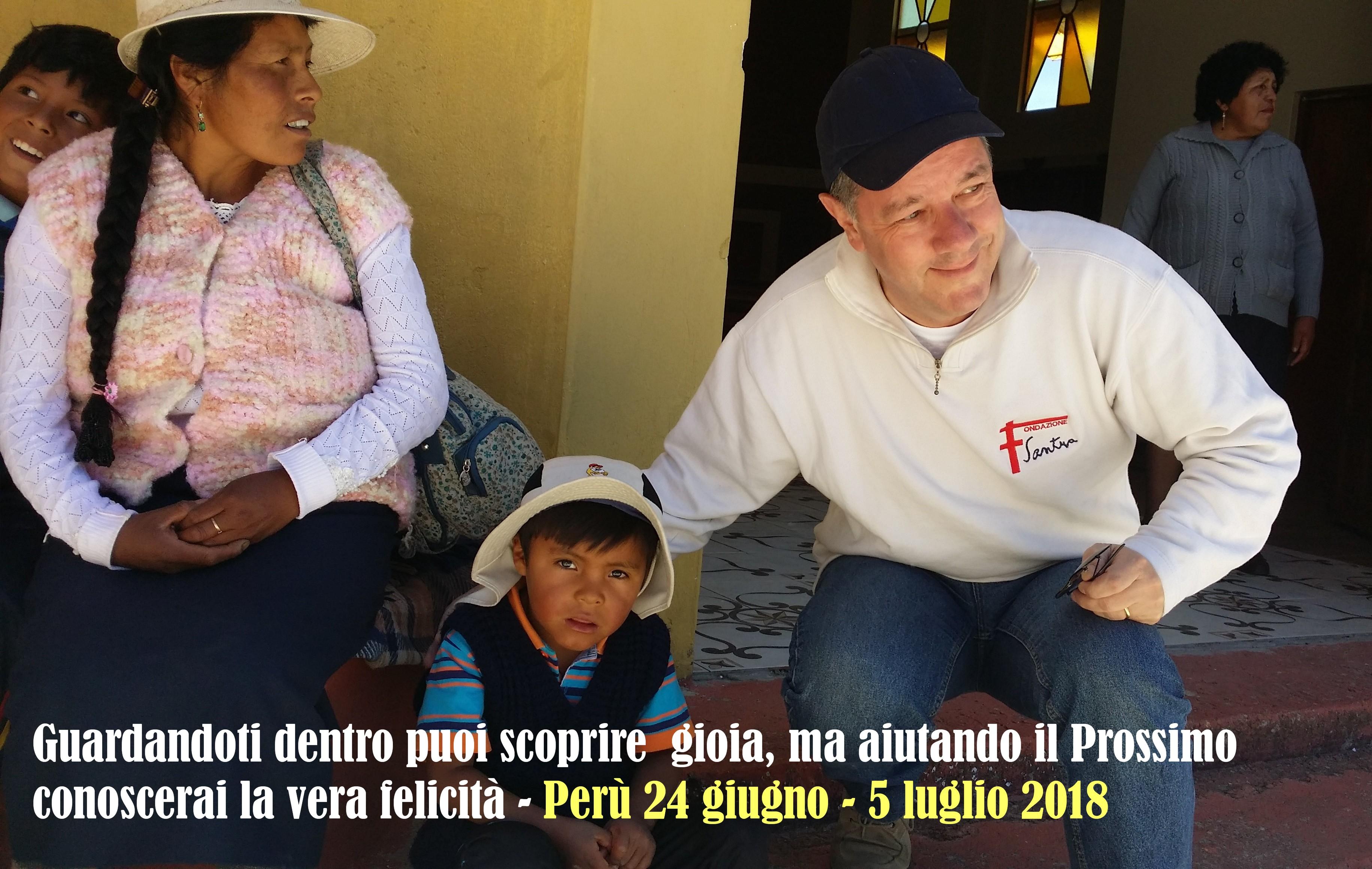 Perù – Brasile 24 giugno – 5 luglio 2018 30mo viaggio di solidarietà